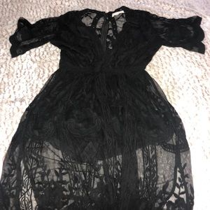 Dress, with see through Lace Detail